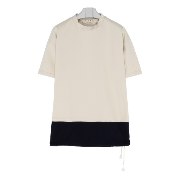 Ivory cotton jersey T-shirt