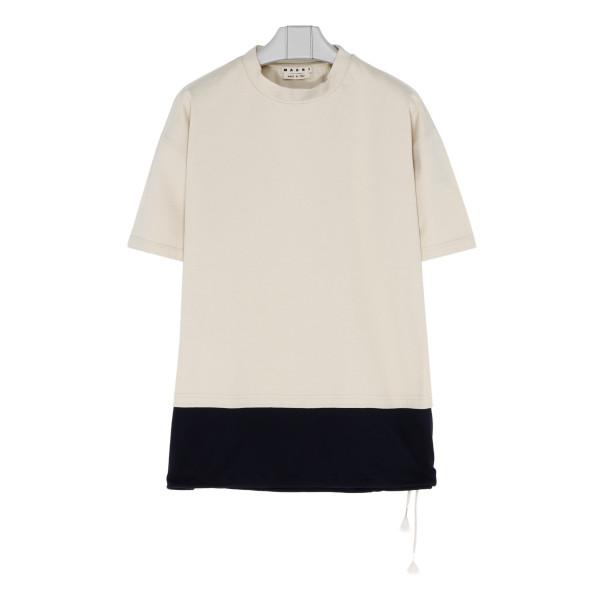 Ivory cotton jersey T-shirt