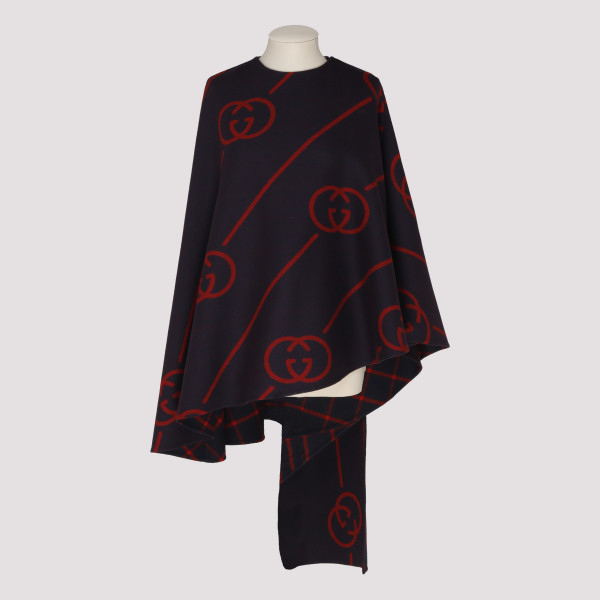 Interlocking G cape coat