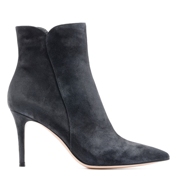 Levy gray suede booties