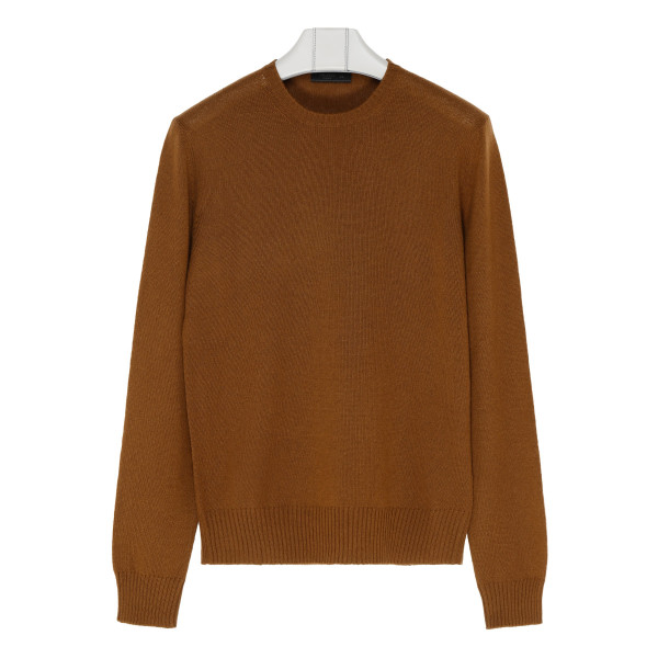 Cognac virgin wool sweater