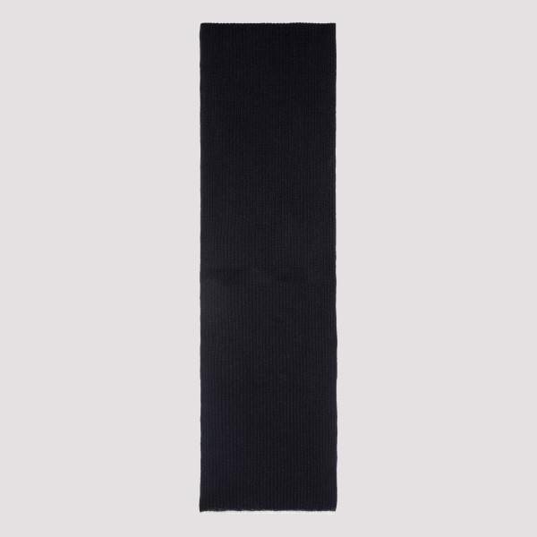 Blue wool-blend scarf