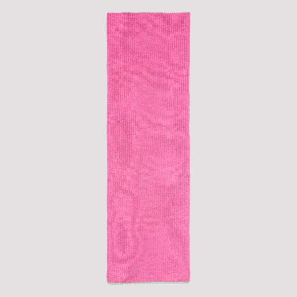 Shocking pink wool-blend scarf