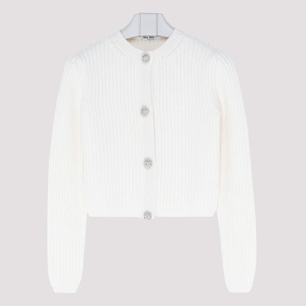 White cashmere cardigan