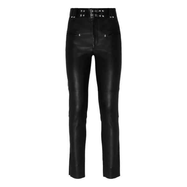 Keydie black leather pants