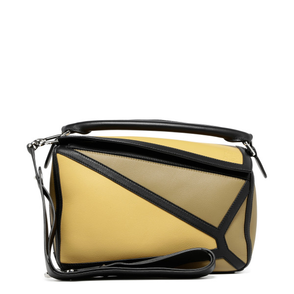 Puzzle yellow and black handbag