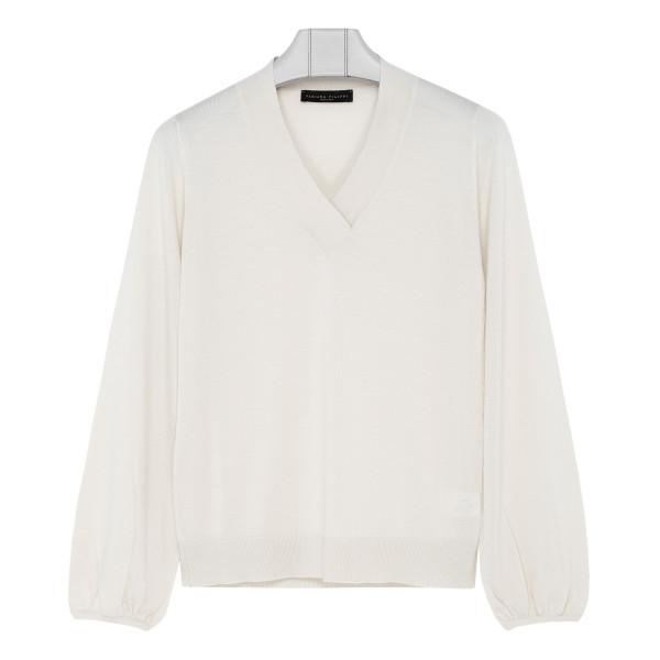 White virgin wool blend sweater