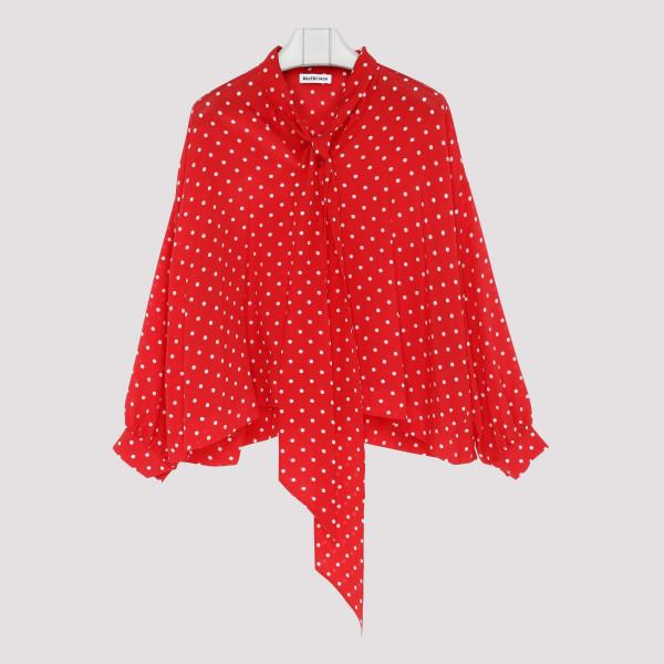 Red polkadot vareuse blouse