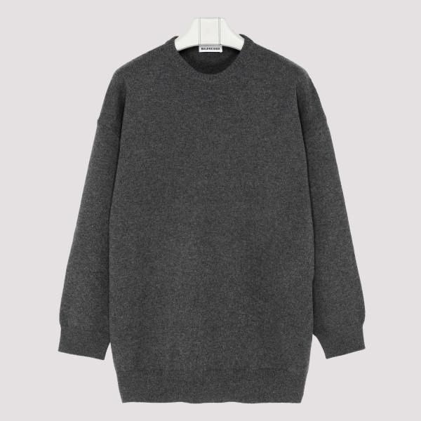 Gray Signature Logo Knit...