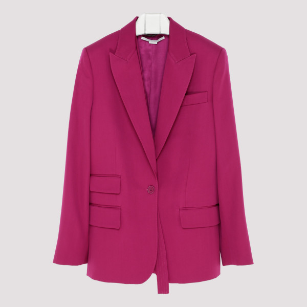 Fuchsia single breasted blazer