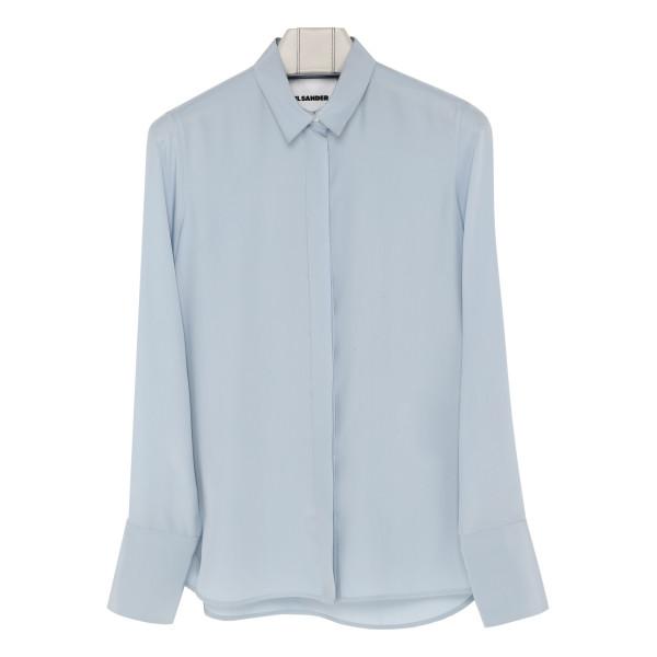 Light blue silk blazer