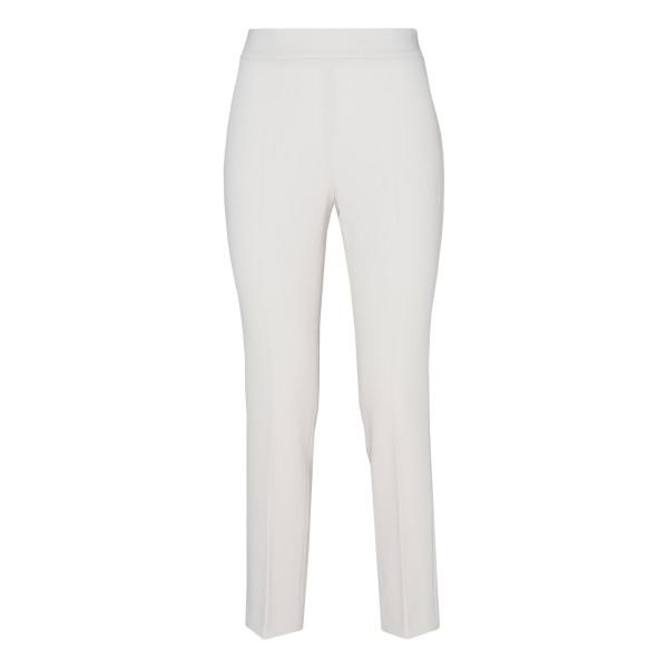 White Guglia crêpe high-rise pants