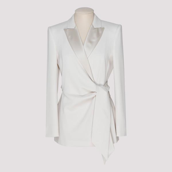 White Lambro crêpe blazer