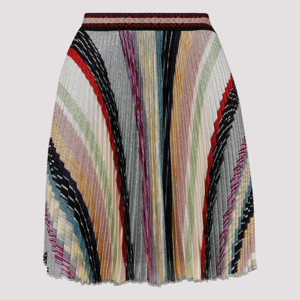 Multicolor striped skirt