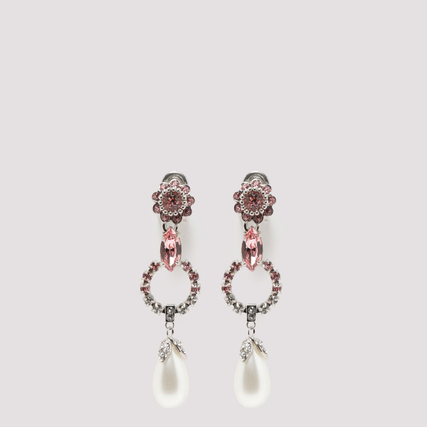 Crystal earrings with pearl...