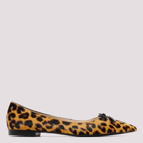 Leopard print ballerinas