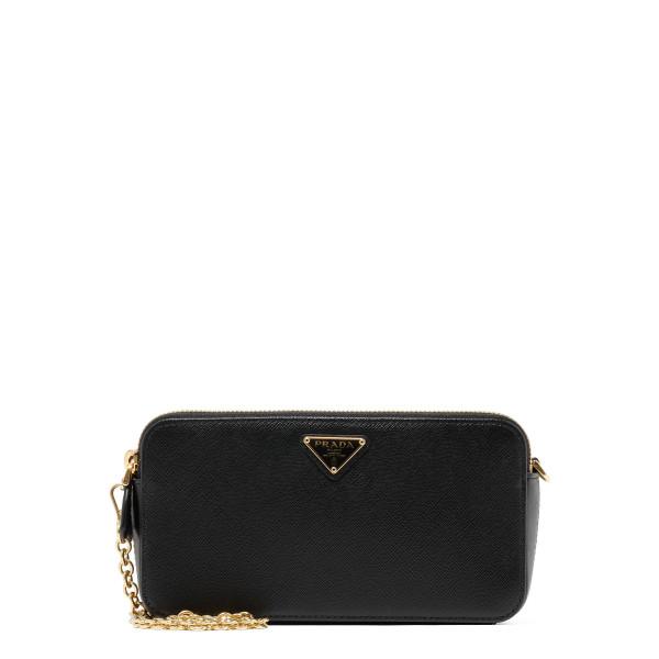 Black saffiano mini bag