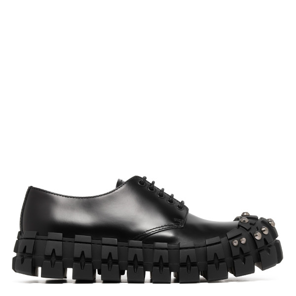 Studded black derby shoes