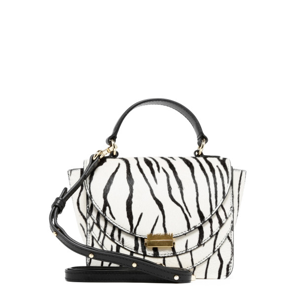 Luna white zebra mini bag