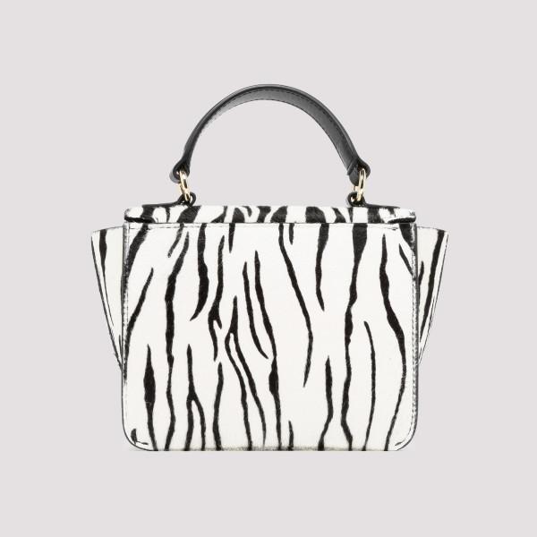 Luna white zebra mini bag