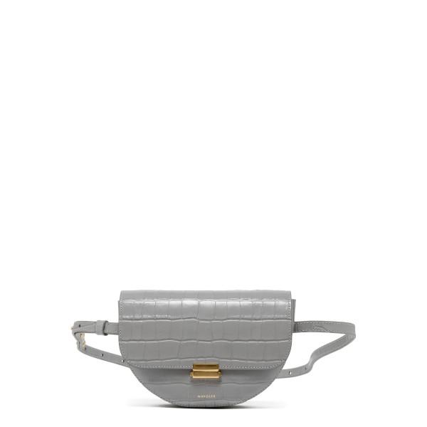 Anna gray leather big belt bag