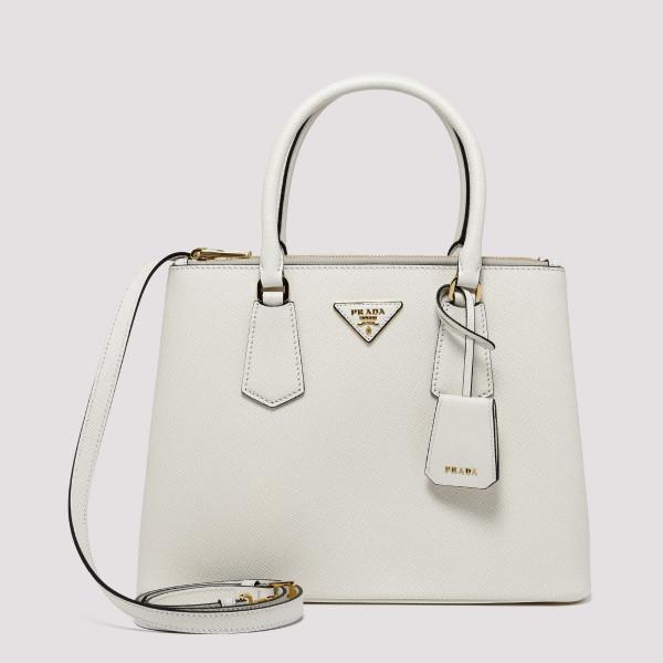 Galleria white saffiano...