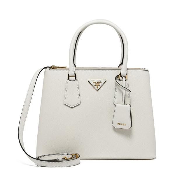 Galleria white saffiano handbag