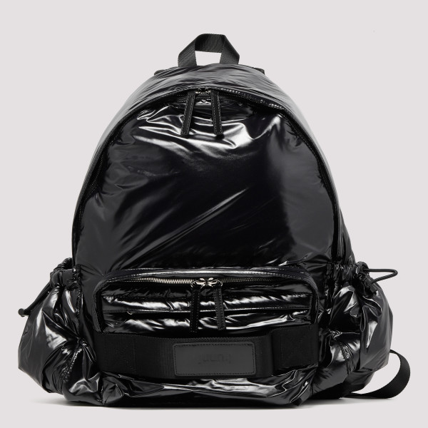 Black polished backpack