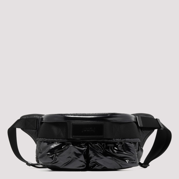 Black polished belt bag