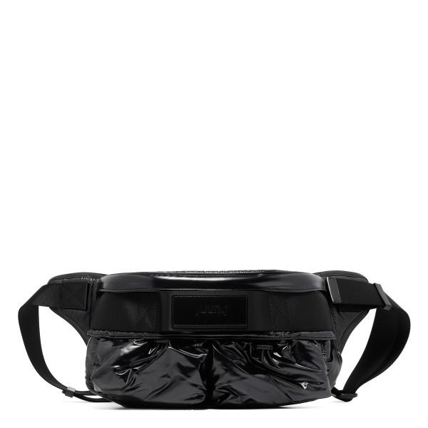 Black polished belt bag