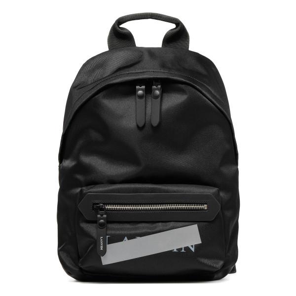 Black zipped logo rucksack