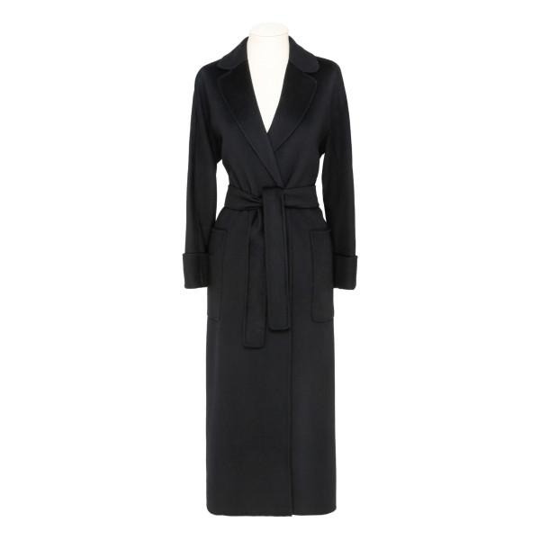 Black Algeri double-face wool coat