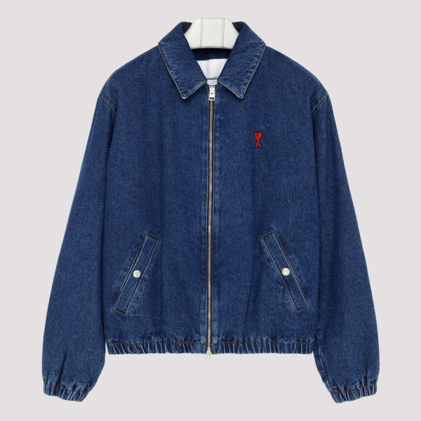Blue denim padded jacket