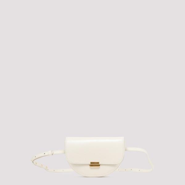 Anna white big belt bag