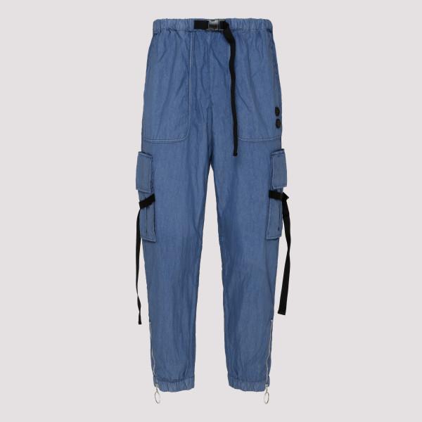 Blue parachute cargo pants