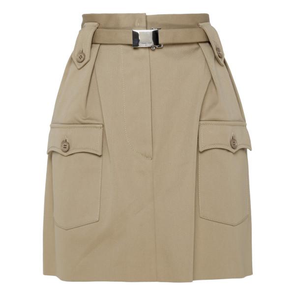 Beige cotton skirt