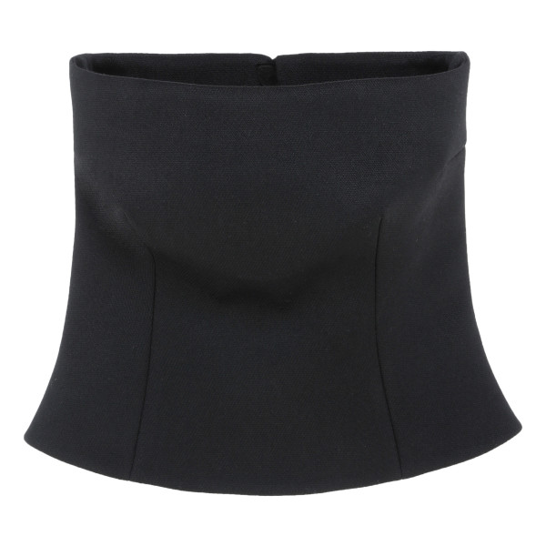 Black gabardine top