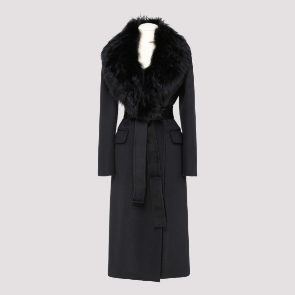Black angora and wool-blend...
