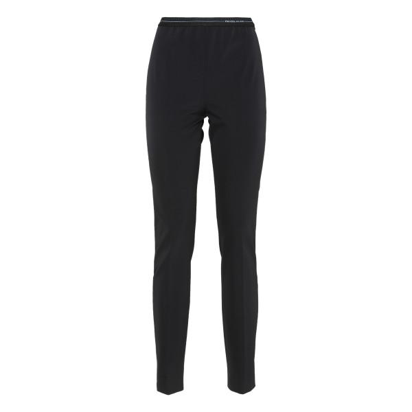 Black tech fabric leggings