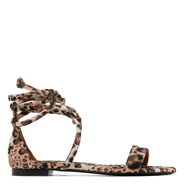 Nellie animalier sandals