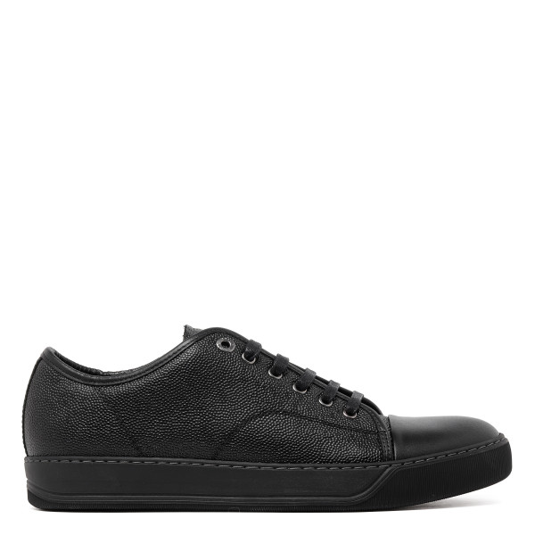 Black cap toe sneakers