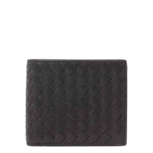 Dark brown intrecciato bifold wallet
