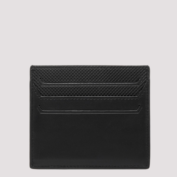 Black leather card-holder