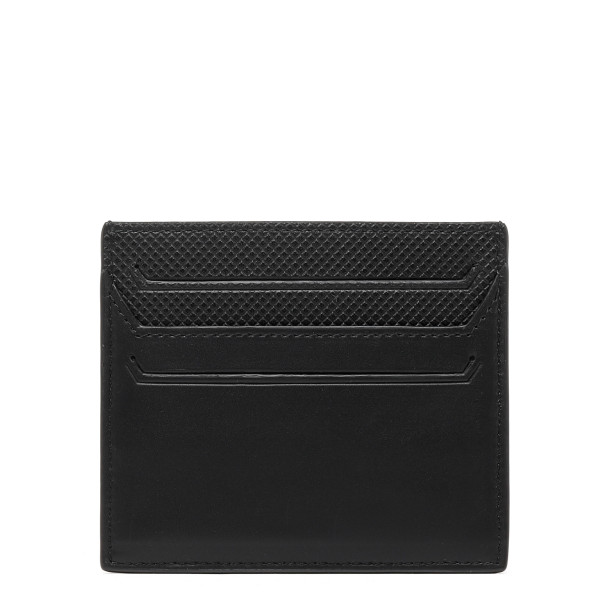 Black leather card-holder