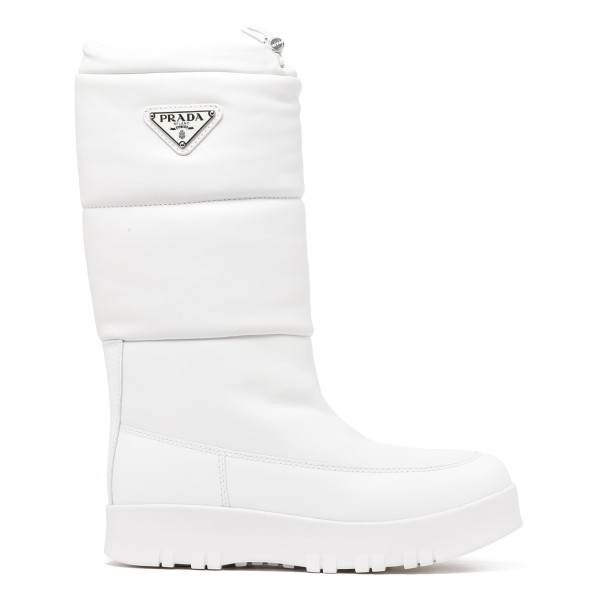 White padded boots