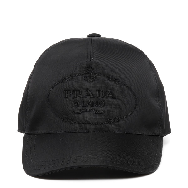 Black nylon baseball cap