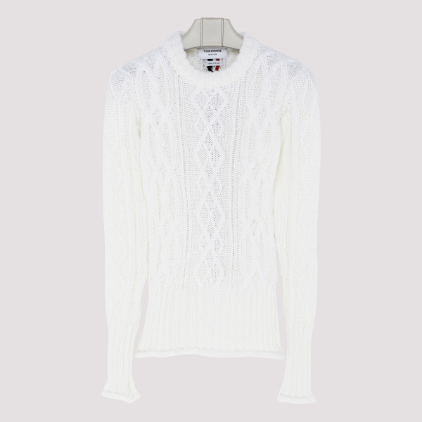 Center Back RWB White Pullover