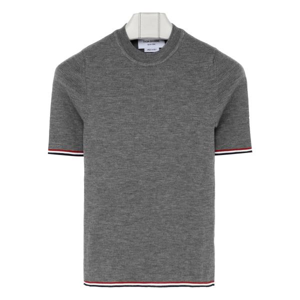 Gray wool T-shirt