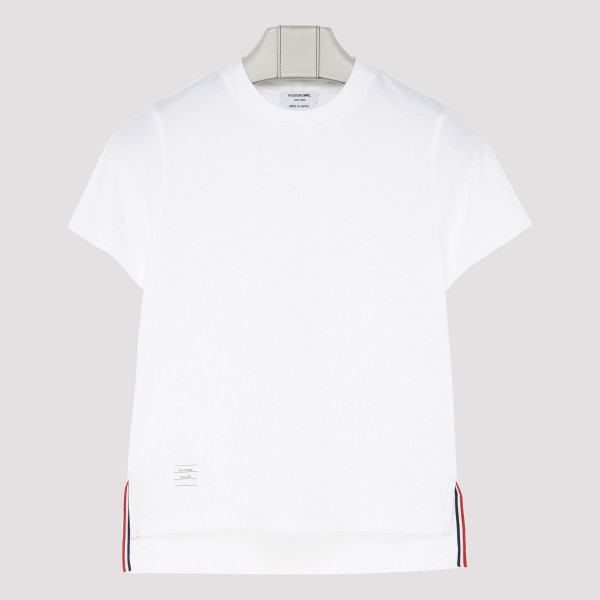 White slide slits T-shirt