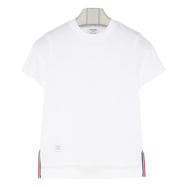 White slide slits T-shirt